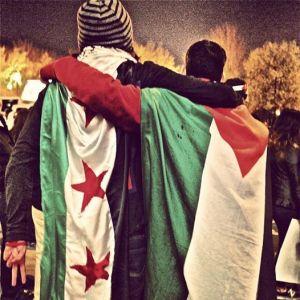 De una de las múltiples manifestaciones en Siria